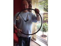 Round window glass pane