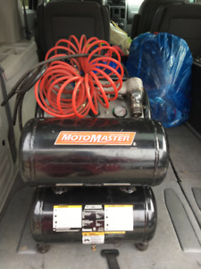 MotoMaster Air Compressor with Hose (and Tools)