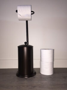 #1Oil Rubbed Bronze TOILET PAPER STAND - $8