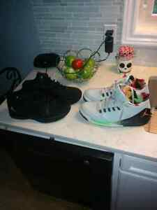 2 pairs of jordans for sale; both size 12