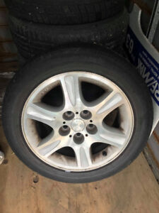 Mazda 626 2000 tires 4 Mags  (2 winter 2 summer)size: 205-55-16