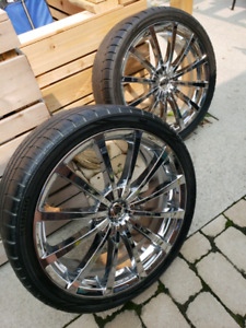 20 inch Chrome Wheels w/ Tires