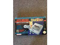 Super Nintendo starwing console boxed