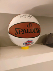 Signed Pistons basketball