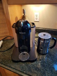 Nespresso vertuoline and frother