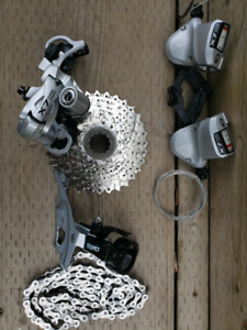Shimano deore lx 3x9 gearset complete!