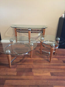 4 pc. Glass table set