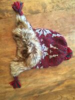 Gap boy/girl hat with faux fur lining - size small