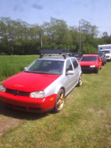 2 vw Golfs for dirtbike