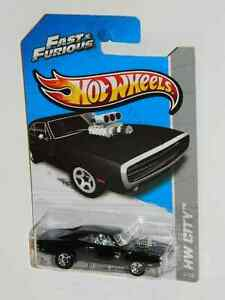 Hot Wheels 1/64 Scale '70 Dodge Charger R/T F + F Diecast Car