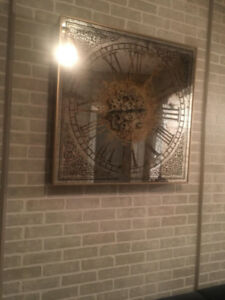 NEGOCIABLE! LARGE ANTIQUE GOLD WALL CLOCK