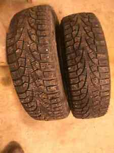 2  pirelli winter carving tires 195/65r15