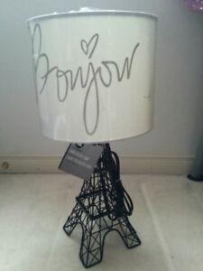 NEW: EIFFEL TOWER LAMP/ OWL LAMP/ BIRD SHADE LAMP - $40 EACH