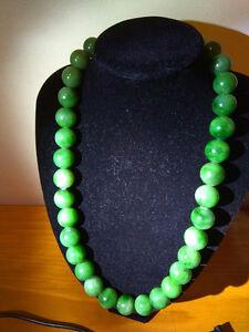 Polar jade large big beads necklace beautiful green