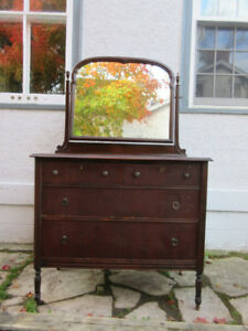 Charming Antique (c1930) Dresser with Swing Mirror
