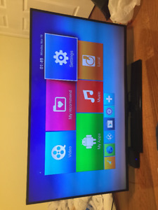 50 inch LVD TV + Android box + brand new Blue ray player .