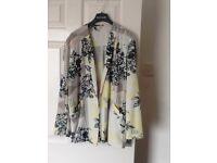River island floral thin blazer new size 14