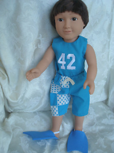"18"" boy doll, beach ensembles"