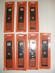 7 VINTAGE REPLACEMENT BLADES FOR BLACK & DECKER EDGER