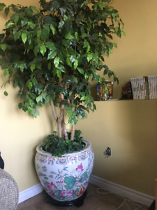 Large artificial potted tree