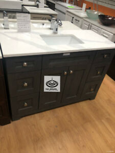 MODERN VANITY BATHROOM VANITY SOLID WOOD VANITIES QUARTZ COUNTER