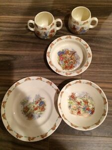Bunnykins and Peter Rabbit dishes