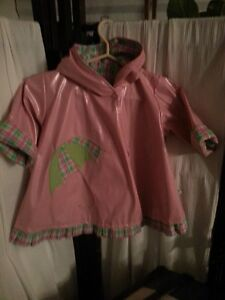 Rare USA Designer Corky & Company Girls Raincoat - 2T