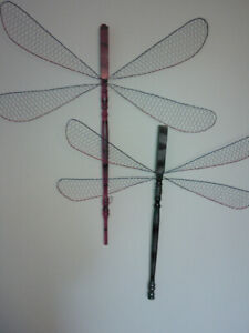 Dragonfly & butterfly wall art