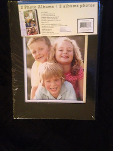 PHOTO ALBUMS (2 per package) Beautiful bonded Black leather.