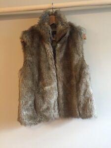 Tommy Hilfiger Fake Fur Vest -Brand New!!!