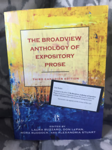 The Broadview anthology of expository prose, Third edition