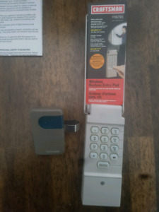 Craftsman Wireless Keypad and Remote