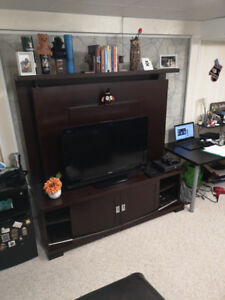 Large Solid Wood TV Stand with Storage