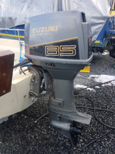 1998 Suzuki DT85 2-stroke outboard with controls