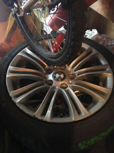 BMW winter mags and tires Continental 225/45/17 RSC run flat