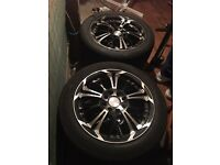 "15"" alloys with tires"