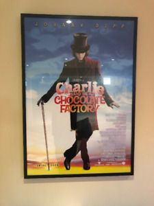 4 Movie Posters, Framed, perfect for home theatre or man cave