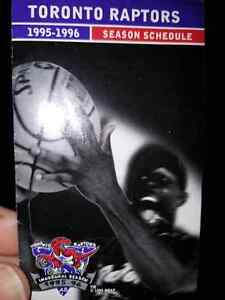 Raptors Inaugural Season Schedule - 1995 - 1996