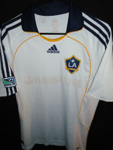 super popular 0e023 e5436 VTG ADIDAS LA GALAXY D.BECKHAM MLS SOCCER JERSEY TOP SHIRT MEN M