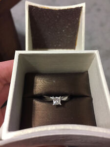 18KT White Gold Solitaire Engagement Ring with Canadian Diamond
