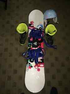 Girls youth snowboard package