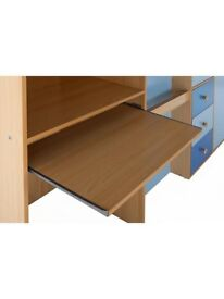 Cabin bed wardrobe desk and drawers