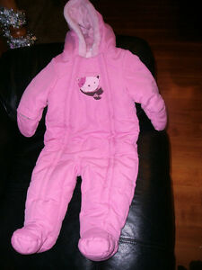 Baby Girl 6-12 Month Winter Snowsuit