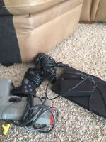 PS2 console, games and memory cards