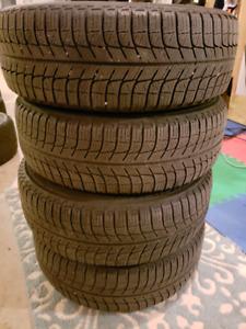Michelin X Ice Winter Tires on Steelies