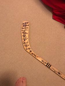 Signed Hockey Stick: