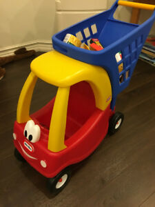 LITTLE TIKES COUPE SHOPPING CART TROLLEY FOR KIDS USED