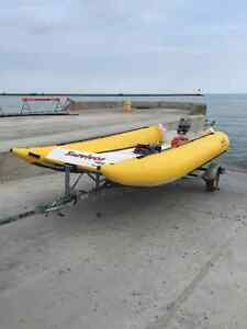 18' INFLATABLE BOAT AND TRAILER London Ontario image 9