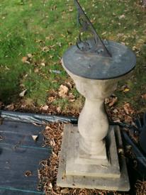 Sundial / plinth for sculpture plant statue birdbath