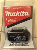 Catégorie de batterie Li-ion 18 V de Makita Brand New